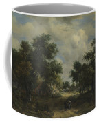 A Road Winding Past Cottages Coffee Mug