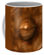 Abstract Brown Globe Coffee Mug