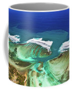 Aerial View Of The Underwater Channel. Mauritius Coffee Mug