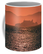 Alcatraz Island Prison San Francisco Bay At Sunset Coffee Mug