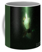 An Obscene Hand Sign Coffee Mug