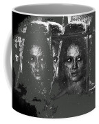 Angie Dickinson At Window Rain Collage Young Billy Young Set Old Tucson Arizona 1968-2013 Coffee Mug