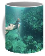 Apnea In Tropical Sea Coffee Mug