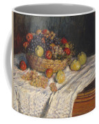 Apples And Grapes Coffee Mug by Claude Monet