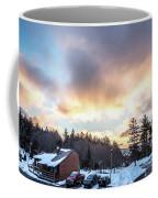 Beautiful Sunrise Over Horizon On Snowshoe Mountain West Virgini Coffee Mug