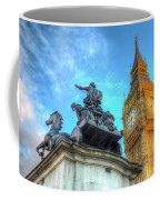 Big Ben And Boadicea Statue  Coffee Mug