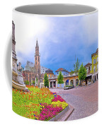 Bolzano Main Square Waltherplatz Panoramic View Coffee Mug