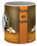 Boston And Bourbon Coffee Mug by Will Bullas