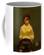 Boy With Baseball Coffee Mug