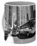 Chicago Bus And Buildings Coffee Mug