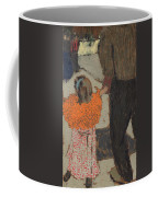 Child Wearing A Red Scarf Coffee Mug