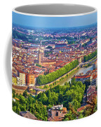 City Of Verona Old Center And Adige River Aerial Panoramic View Coffee Mug