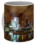 Cleveland Skyline At Night Coffee Mug
