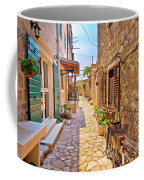 Colorful Mediterranean Stone Street Of Prvic Island Coffee Mug
