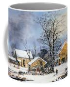 Currier & Ives Winter Scene Coffee Mug