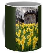 Daffodils And Bar Walls, York, Uk. Coffee Mug