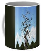 Dead Pine Tree Abstract Coffee Mug