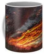 Dramatic Skies Great Smoky Mountains Nc At Sunset In Winter Coffee Mug