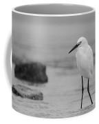 Egret In Black And White Coffee Mug