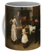Family Scene In A Kitchen Coffee Mug