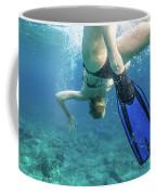 Female Snorkeling Coffee Mug