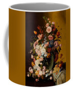 Flowers In A Glass Pitcher Coffee Mug