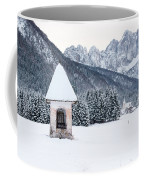 Idyllic Landscapes Immersed In The Snow. The Dream Of The Julian Alps And Valbruna Coffee Mug