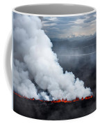 Lava And Plumes From The Holuhraun Coffee Mug