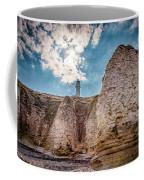 Lighthouse On The Cliff Coffee Mug