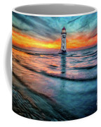 Light House Sunset Coffee Mug