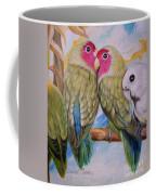 Flygende Lammet   Productions             3 Love Birds Perched Coffee Mug