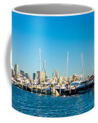 Miami Florida City Skyline Morning With Blue Sky Coffee Mug