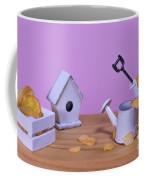 Miniature Gardening Kit With Pink Background Coffee Mug