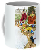 Monks Blessing Buddhist Wedding Ceremony In Cambodia Coffee Mug