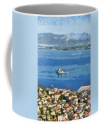 Nafplio Town And Bourtzi Fortress Coffee Mug