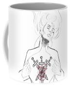 3 Of Swords Coffee Mug