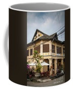 Old French Colonial Architecture In Kampot Town Street Cambodia Coffee Mug