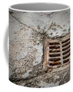Old Rusty Street Grate Near The Sea In Cres Coffee Mug