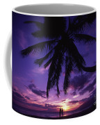 Palm Over The Beach Coffee Mug