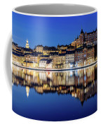 Perfect Sodermalm And Mariaberget Blue Hour Reflection Coffee Mug
