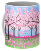 Pink Garden, Oil Painting Coffee Mug