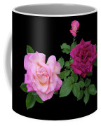 3 Pink Roses Cutout Coffee Mug