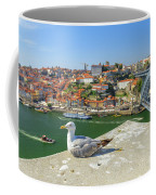 Porto Skyline Seagull Coffee Mug