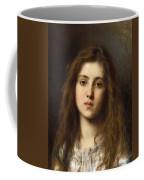 Portrait Of A Young Girl Alexei Alexeivich Harlamoff Coffee Mug