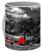 Red Barn In Wyoming Coffee Mug