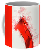 Red Flag On Black Background Coffee Mug