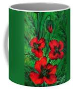 3 Red Poppies Coffee Mug