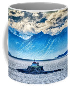 Remote Lighthouse Island Standing In The Middle Of Mud Bay Alask Coffee Mug