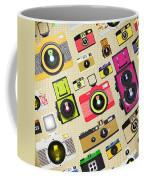 Retro Camera Pattern Coffee Mug