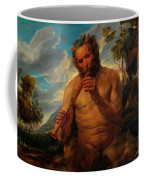 Satyr Playing The Pipe Coffee Mug